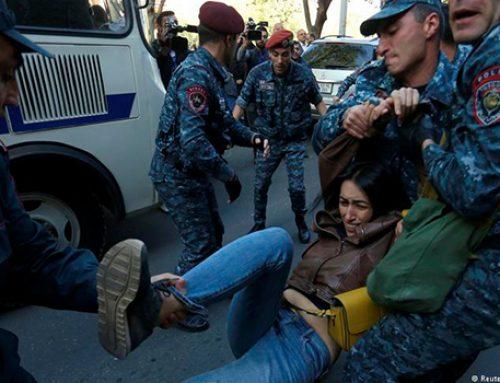 В Ереване массовые задержания