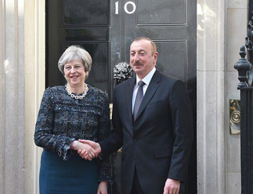 Президент Азербайджана встретился с премьер-министром Великобритании