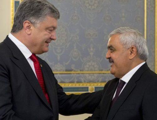 Ровнаг Абдуллаев на переговорах с президентом Украины