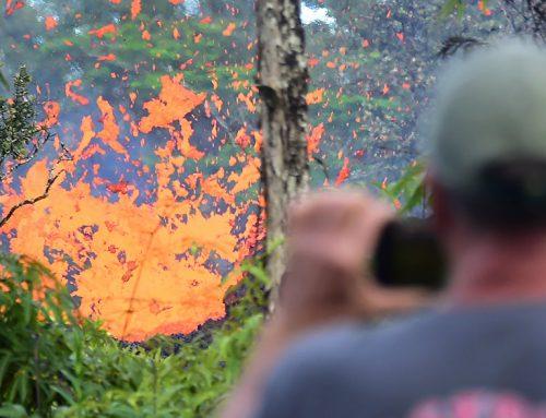 На Гавайях ужесточили наказание за селфи с лавой