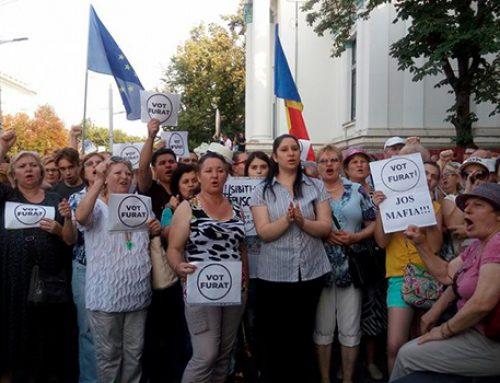 Кишиневцы протестуют против решения суда о выборах мэра