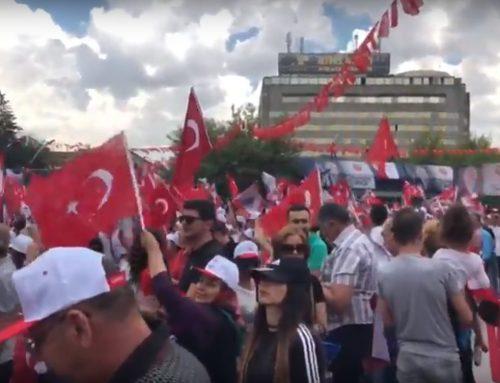 В Турции проходит митинг перед президентскими и парламентскими выборами