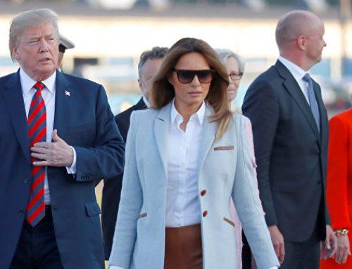 Меланья Трамп приехала в жаркий Хельсинки в пальто