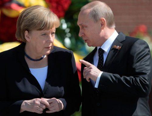 Путин прибыл в Берлин на переговоры с Меркель