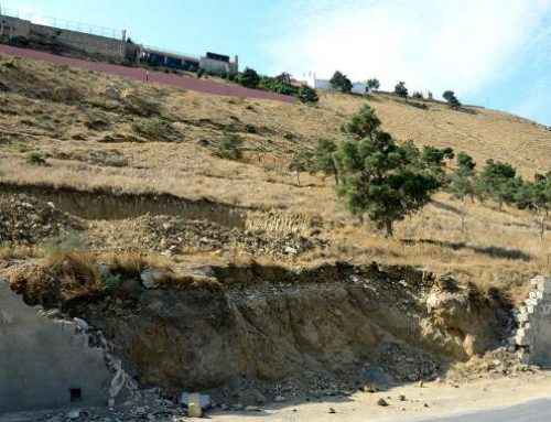 Зарегистрированы расширения в трещинах в зоне оползня в Бадамдаре