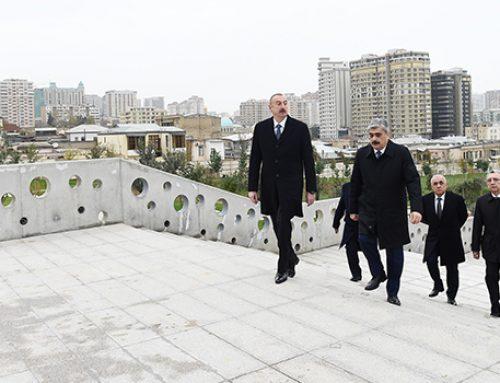 Глава государства ознакомился с работами по благоустройству территории вокруг мечети «Тезепир»