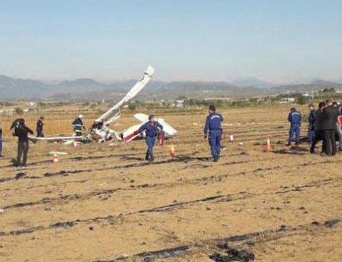 В Турции упал учебный самолет